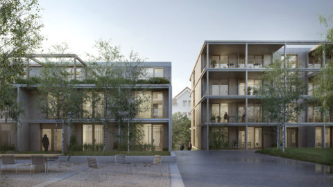 Benninger Areal Courtyard Hosoya Schaefer Architects