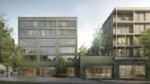 Benninger Areal - Birkenhof, Eingangsplaza, Hosoya Schaefer Architects.