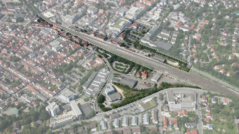 Bahnstadt Nürtingen Aerial View Hosoya Schaefer Architects
